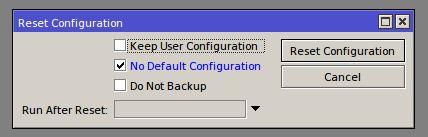Winbox# System/Reset Configuration
