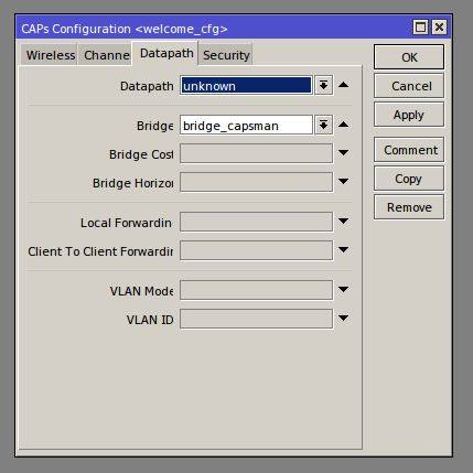 Winbox# CAPSMAN/Configurations