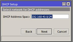 Winbox# IP/DHCP Server/DHCP Setup