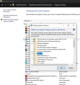 funkcje systemu Windows