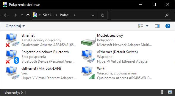 windows-okno kart sieciowych